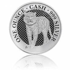 1 oz Silbermünze St. Helena Indien Wildlife Tiger 1. Ausgabe (2019)