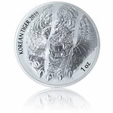 1 Unze Silbermünze Südkorea Tiger 2019 2. Ausgabe