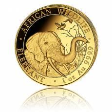 Somalia Elefant 1 Unze Gold (2018)
