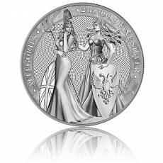 2 Unzen Silbermünze Allegories 10 Mark (2019) 1. Ausgabe