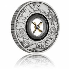2 Unzen Silbermünze Tuvalu 2 $ - 100 Jahre - 1. Flug England nach Australien Antik Finish 2019