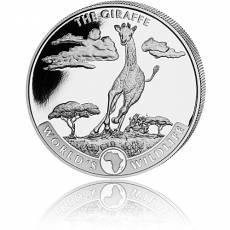 1 Unze Silbermünze World´s Wildlife Giraffe 1. Ausgabe (2019)