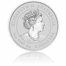 5 Unzen Silbermünze Australien Lunar III Maus  (2020)