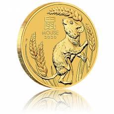 1/2 Unze Goldmünze Australien Lunar III Maus (2020)