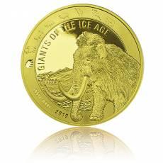 1 Unze Goldmünze Giganten der Eiszeit - Wollmammut polierte Platte (2019)