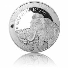 1 kg Silbermünze Giganten der Eiszeit - Wollmammut (2019)