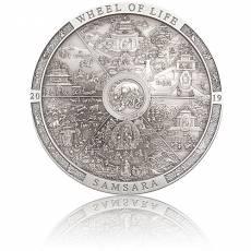 3 oz Silbermünze Samsara Wheel of Life Archeology Symbolism (2019)