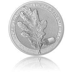 1 Unze Silber Oak Leaf Eichenblatt Germania Mint 5 Mark (2019) 1. Ausgabe