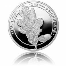 1 Unze Silber Oak Leaf Eichenblatt Germania Mint 5 Mark PP (2019) 1. Ausgabe