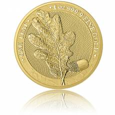 1 Unze Gold Oak Leaf Eichenblatt Germania Mint 5 Mark (2019) 1. Ausgabe