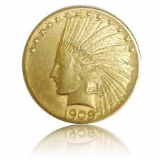 Goldmünze 10 Dollars Indian Head 1909