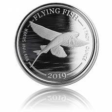 1 oz Silbermünze Barbados Flyingfisch (2019)