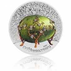 2 oz Silbermünze Fabergé Ei 100. Jahrestag Peter Carl Fabergé polierte Platte (2020)