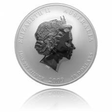 Australien Lunar Ochse 10 Unzen Silber