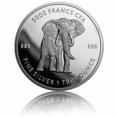1 oz Silbermünze Afrika Tchad Mandala Elefant 2019 3. Motiv