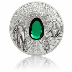2 oz Silbermünze Famous Diamonds - Green Diamond Dresden PP 2017