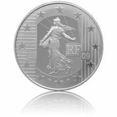 10 Euro Silber Frankreich Säerin - 50. Geburtstag vom Europäischen Gerichtshof der Menschenrechte Polierte Platte in F12 Kapsel (2009)