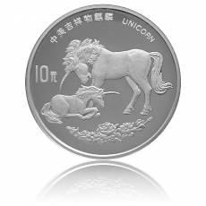 10 Yuan Silber Unicorn/Einhorn 1995 (in Kapsel)