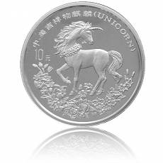 10 Yuan Silber Unicorn/Einhorn 1994 (in Kapsel)