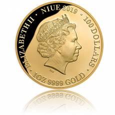 Goldmünze 1 oz Queen Elizabeth II Diamant Polierte Platte 2019