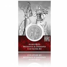 Silbermünze 1 oz Allegories Germania/Britannia WMF Spezial Blister 5 Mark (2019) 1. Ausgabe