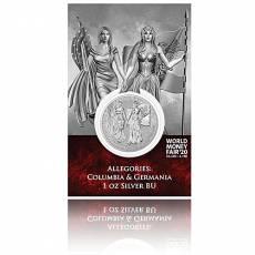 Silbermünze 1 oz Allegories Columbia & Germania WMF Spezial Blister 5 Mark (2019) 2. Ausgabe