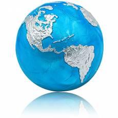 Silbermünze 3 oz Blauer Planet Erde - Blue Marble Kugelförmig 2020