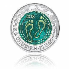 Silbermünze 25 Euro Niob Faszination Technik - Anthropozän Österreich 2018