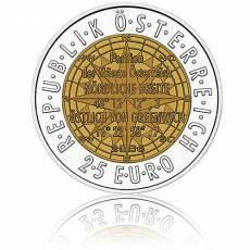Silbermünze 25 Euro Niob Faszination Technik - Satelliten-Navigation Österreich 2006
