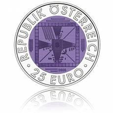 Silbermünze 25 Euro Niob Faszination Technik - 50 Jahre Fernsehen Österreich 2005