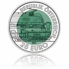 Silbermünze 25 Euro Niob Faszination Technik - 150 Jahre Semmeringbahn Österreich 2004