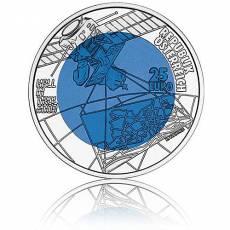 Silbermünze 25 Euro Niob Faszination Technik - 700 Jahre Stadt Hall in Tirol Österreich 2004