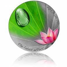 Silbermünze 1 oz Lotus Effect Regentropfen 2020