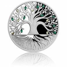 Silbermünze 1 oz Tree of Life Crystal Polierte Platte 2020