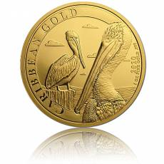 1 oz Goldmünze Caribbean Barbados Pelican (2020)