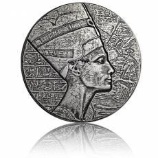 Silbermünze 5 oz Nofretete Ägypt Relikt Antik-Finish (2017)