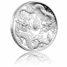 1 oz Silber Australien Perth Mint Dragon & Dragon - Doppel-Drache Proof  (2020)