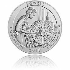 5 oz Silber US-Mint American Beautiful Massachusetts Lowell National Park (2019)