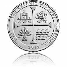 5 oz Silber US-Mint American Beautiful Texas San Antonio (2019)