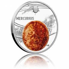 1 oz Silbermünze Solar System  Der Merkur Polierte Platte (2020)