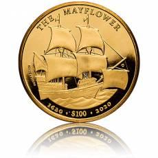 Goldmünze 1 oz 400th Anniversary Mayflower 2020