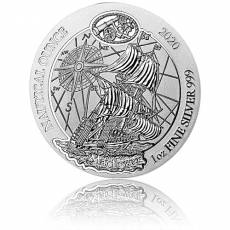 1 Unze Silbermünze Ruanda Nautical Ounce Serie -  Mayflower 2020
