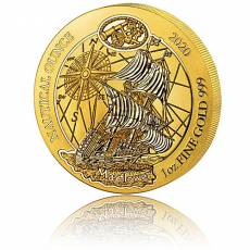 1 Unze Goldmünze Ruanda Nautical Ounce Mayflower 2020