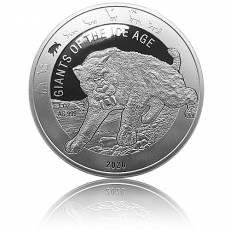 1 Unze Silbermünze Giganten der Eiszeit - Säbelzahnkatze (2020)