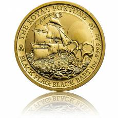 1 oz Goldmünze Tuvalu Piratenschiff 2. Ausgabe The Royal Fortune 2020