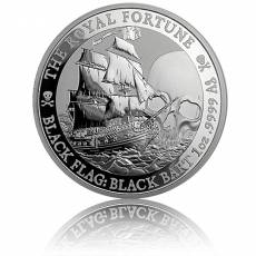 1 oz Silbermünze Tuvalu Piratenschiff The Royal Fortune 2020