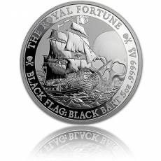 5 oz Silbermünze Tuvalu Piratenschiff The Royal Fortune 2020