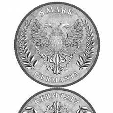 1 Unze Silber Germania 5 Mark (2020) 2. Ausgabe