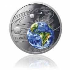 1 oz Silbermünze Solar System  Die Erde Polierte Platte (2020)