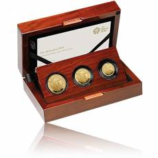 3 Coin-Set Britannia PP Gold 2019